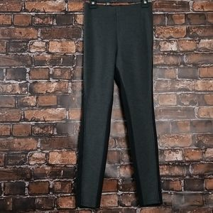 Hue| Contrast Grey Legging w Black Piping